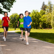 Active people running — Stock Photo #33491739