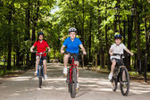 Aktivní rodina, cykloturistika — Stock fotografie