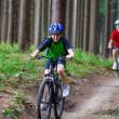 famille active vélo — Photo