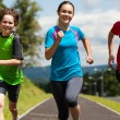 Active people running — Stock Photo
