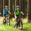 Active family biking — Stock fotografie #33576125
