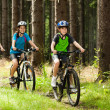 Stockfoto: Active family biking