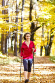 Nordic walking — Stock fotografie