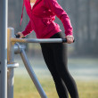 Woman exercising — Stock Photo