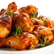 Grilled chicken drumsticks — Stock Photo