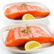 Fresh raw salmon fillet — Stock Photo #33639279