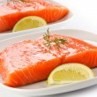 Foto de Stock  : Fresh raw salmon fillet
