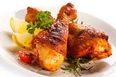 Roasted chicken drumsticks — Stock Photo