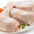 Raw chicken legs — Stock Photo