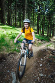 Girl biking — Stock Photo