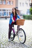 Ciclismo urbano — Foto de Stock
