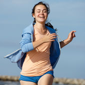 Running girl — Foto Stock