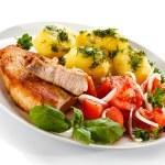 Pork chop, boiled potatoes — Stock Photo #46250317