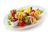 Kebab - grilled meat — Stock Photo