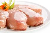 Raw chicken breasts — Stock Photo