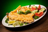 Fried fish fillet — Stock Photo