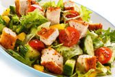 Salad with chicken meat — Stock Photo