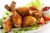Coscia di pollo alla griglia — Foto Stock