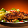 Tasty grilled ribs — Stock Photo #46275373