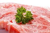 Fresh raw pork chop — Stock Photo