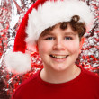 Boy with Santa Claus Hat — Stock Photo