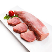 Fresh raw pork loin — Stock Photo