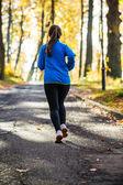 Girl running — Stock Photo