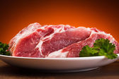 Fresh raw pork chops — Stock Photo