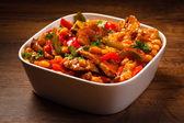 Geroosterd vlees en groenten — Stockfoto