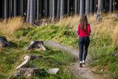 Girl running outdoor — Stock Photo