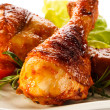 Roasted chicken drumsticks — Stock Photo #50518297