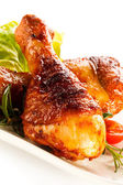 Roasted chicken drumsticks — Stock Photo