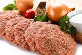 Fresh raw minced meat — Stock Photo