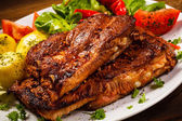 Tasty grilled ribs — Stock Photo