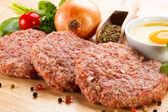 Syrové mleté maso — Stock fotografie