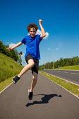 Ragazzo salto — Foto Stock