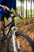 Biking on forest trails — Stock Photo