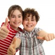Children showing OK sign — Stock Photo #50531709