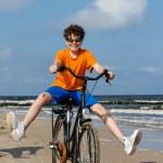 Teenage boy riding bike — Stock Photo #50531963