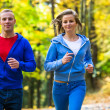 Young couple running — Stock Photo #50532203