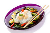 Rice noodles and vegetables — Stock Photo