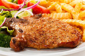 Fried pork chop — Stock Photo