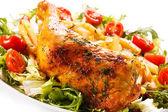 Roast chicken leg — Stock Photo