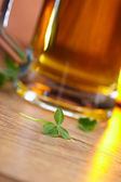 Clover and beer — Stock Photo