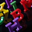 Royalty-Free Stock Photo: Plastic alphabet letters