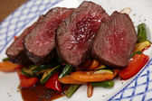 Beef with vegetables — Stock Photo