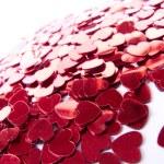 Red hearts confetti — Stock Photo #23159354