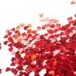 Hearts confetti from little red hearts — Stock Photo