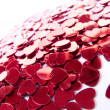 Red hearts confetti - Foto Stock