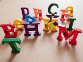 Colore plastic alphabet letters — Stock Photo